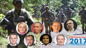 Blesk Volební souboj 2017 o problémech armády, terorismu, bezpečnosti a migraci nabídne debatu hned osmi politiků
