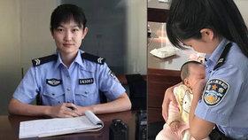 Dobrosrdečná policistka nakojila dítě obžalované ženy: Ta se dojetím rozplakala
