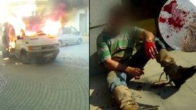 Výbuch, křik, krev a střepy: Podívejte se na video exploze »bomby« na nádvoří univerzity v Brně