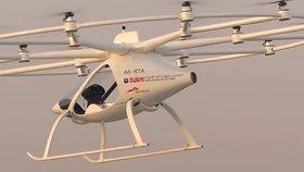 Horší rána než Uber: Začaly testy létajících bezpilotních taxi