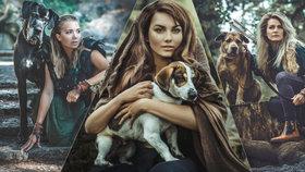 Vondráčková, Farna i Kostková s meči a luky: Na pomoc opuštěným psům!