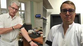 Roman Šmucler a praktický lékař Oto Košta