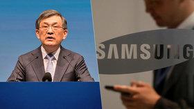 Šéf Samsungu Kwon O-hjon nečekaně rezignoval.