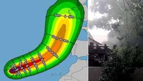 Hurikán se žene na Evropu: Ophelia má rychlost 155 km/h a dosáhla třetího stupně