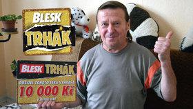 Josef (61) z Buštěhradu získal v Trháku 10 000 korun: Za výhru si koupí novou pilu!