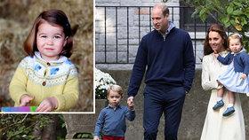 Princezna Charlotte ostrouhá: Malý George má mnohem větší výsady!