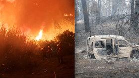 """Dvě ženy uhořely ve svém autě. """"Šílené""""  požáry v Portugalsku mají již 27 obětí"""