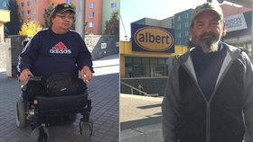 »Já tě naučím chodit!« křičel na beznohého invalidu (54) sekuriťák Albertu v Brně a shazoval ho z vozíku