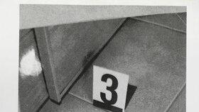 Nábojnice leží na dvou různých snímcích pokaždé na jiném místě.