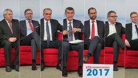 Sedm lídrů se postupně usadilo v horkém křesle Volebního souboje Blesku. Grilovali je jejich soupeři.