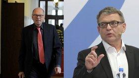 Ministři Ivan Pilný (ANO, vlevo) a Lubomír Zaorálek (ČSSD) jsou ve sporu.
