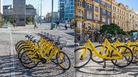 Ulice zaplnila žlutá »kola«: Číňané je zatím provozují v Praze 7