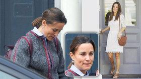Pippa s nenalíčenou a ztrhanou tváří: Choulila se ve volném kabátě!