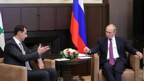 Putin novoročně popřál Asadovi: S ruskou pomocí může Sýrie dál počítat