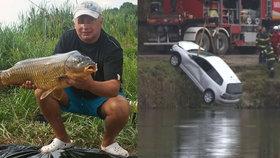 Hrůzný nález: Z vodní nádrže vytáhli auto, uvnitř byli pohřešovaní manželé
