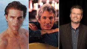 Tom Cruise, Brad Pitt, Blake Shelton: Nejvíc sexy muži od roku 1985 dodnes!