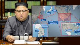 """Kdo je na """"listině smrti"""" Kim Čong-una? Tohle je seznam cílů jeho atomových bomb"""