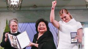 Nobelovu cenu míru dostali bojovníci proti jaderným zbraním. Oceněná přežila Hirošimu
