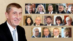 Noví ministři přehledně: Kdo bude šéfovat Česku pod taktovkou Andreje Babiše?