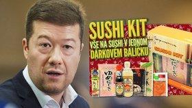 Okamura na Facebooku nabízí kromě politiky i sushi. Expert: Je to fascinující