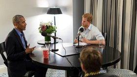 Princ Harry zpovídal jako reportér Obamu. Pozve ho na svatbu?