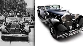 Hitlerův mercedes jde do dražby. Má neprůstřelná skla a vezl i Mussoliniho