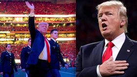 Trump tápal při hymně. A jeho pracovní režim plný televize je terčem posměchu