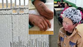 Školák (8) šel v mrazu hodinu do školy kvůli písemce: Vypadal jak rampouch!