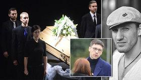 Pohřeb Jakuba Zedníčka (†27): Hejlíka nepustili do krematoria!