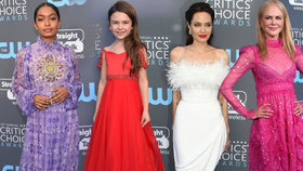 Krásky na předávání cen Critic's Choice Awards: Černá je minulostí, převládala bílá a rudá!