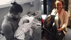 Moderátorka Šilhánová se pochlubila fotkou dcery přímo z porodnice