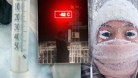 V nejmrazivější vesnici na světě naměřili minus 62 °C. Pak selhal teploměr