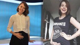 Moderátorka Gábina Lašková: 10 týdnů do porodu! Kdy zmizí z obrazovek?