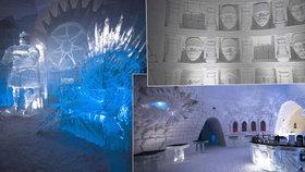 Hry o trůny na vlastní kůži: Podle slavného seriálu vznikl unikátní hotel z ledu!