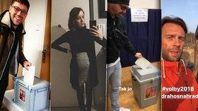 Slavní vyrazili k prezidentským volbám: Těhotná Lašková se převlékala, Roman Vojtek básnil!