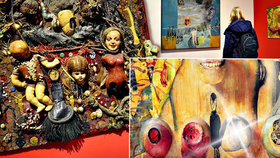 Vožniakova »vagína, Frankenstein i šavle«: Zjistěte v Museu Kampa, co dalšího lze upevnit na obraz