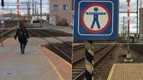 """Stovky Čechů riskují na kolejích, krátí si své cesty. Expert: """"Po dálnici také nechodíte"""""""