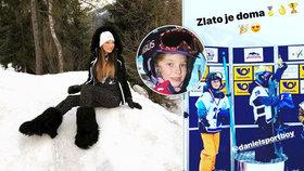 Verešová skáče radostí: Její syn vyhrál zlatou medaili ve snowboardingu