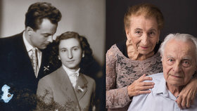 """Tohle je láska! Vlastimil (90) a Věra (88) jsou spolu už 65 let. """"Poznali jsme se v Mánesu, líbily se mi její nohy,"""" říká on"""