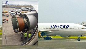 Děsivý let na Havaj. Letadlu se utrhl kus motoru, cestující vše viděli z oken