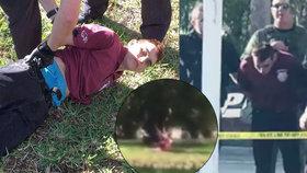 Valentýnský střelec z Floridy se vzdal hodinu po masakru: Kamera vše zachytila!