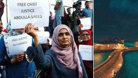 Na Maledivách se střetli demonstranti s policií. Turistický ráj Čechů zažívá krizi