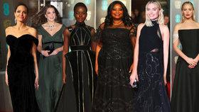 Ceny Bafta 2018 zčernaly: Herečky brojí proti sexuálnímu týrání žen