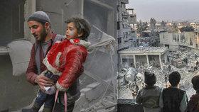 Mrtvé děti, zdemolované nemocnice: Pondělní nálety zabily 100 civilistů