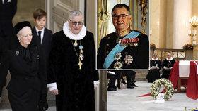 Pohřeb dánského prince Henrika (†83): Královna s dětmi a vnoučaty mu zpívaly z Bible