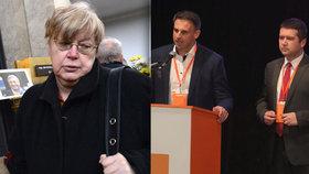 """""""Jste srabi."""" Volfová sepsula straníky ČSSD i Zemana za neúčast na Šloufově pohřbu"""
