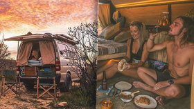Vysněný život na cestách: Mladý pár už čtyři roky křižuje Austrálii v dodávce