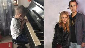 André Mozart? Ochotská se chlubí synem, kterému učaroval klavír víc než tenisová raketa