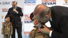 Prezident rozplakal šestiletou holčičku. Erdogan jí přiblížil mučednickou smrt
