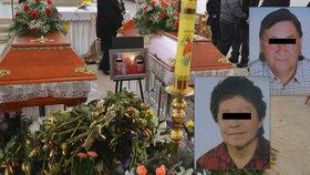 Poslední rozloučení s umrzlými manželi: 300 lidí zpívalo Bohuslavovi a Zdeňce církevní chorály